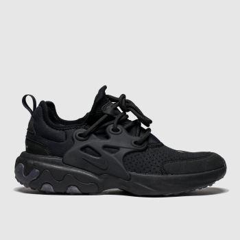 Nike black presto react trainers youth
