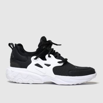 Nike Black & White Presto React Unisex Youth