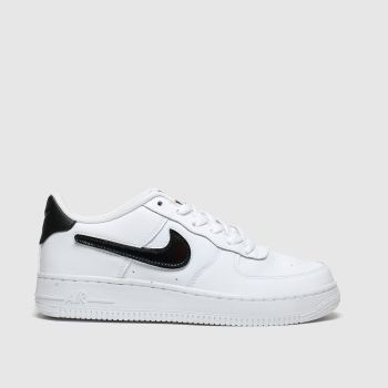 nike white & black air force 1 lv8 3 trainers youth