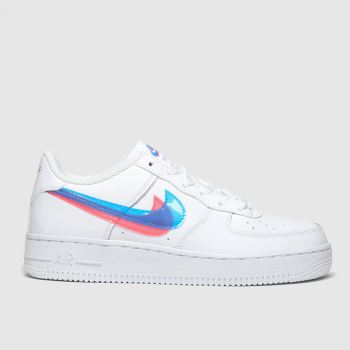 Nike White & Blue AIR FORCE 1 LV8 3 Unisex Youth