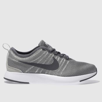 NIKE LIGHT GREY DUALTONE RACER YOUTH TRAINERS