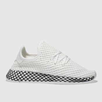 Adidas White & Black DEERUPT RUNNER Unisex Youth