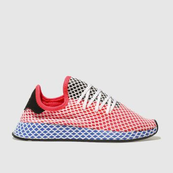 ADIDAS RED DEERUPT RUNNER TRAINERS YOUTH