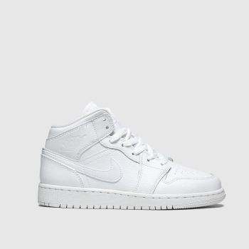 Nike Jordan White Air Jordan 1 Mid Unisex Youth