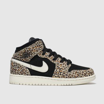 Nike Jordan Black & Brown Air Jordan 1 Mid Unisex Youth
