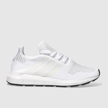 Adidas White Swift Run Unisex Youth