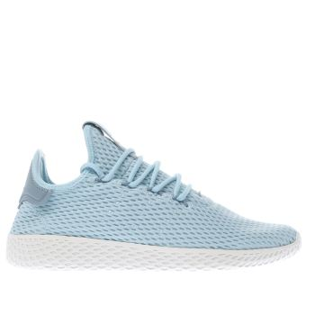 ADIDAS PALE BLUE PHARRELL WILLIAMS TENNIS HU J YOUTH TRAINERS