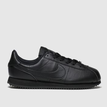 nike black cortez basic trainers youth