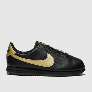Nike Black & Gold Cortez Basic Unisex Youth