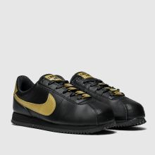 huge selection of b04fe b9815 nike black & gold cortez basic trainers youth