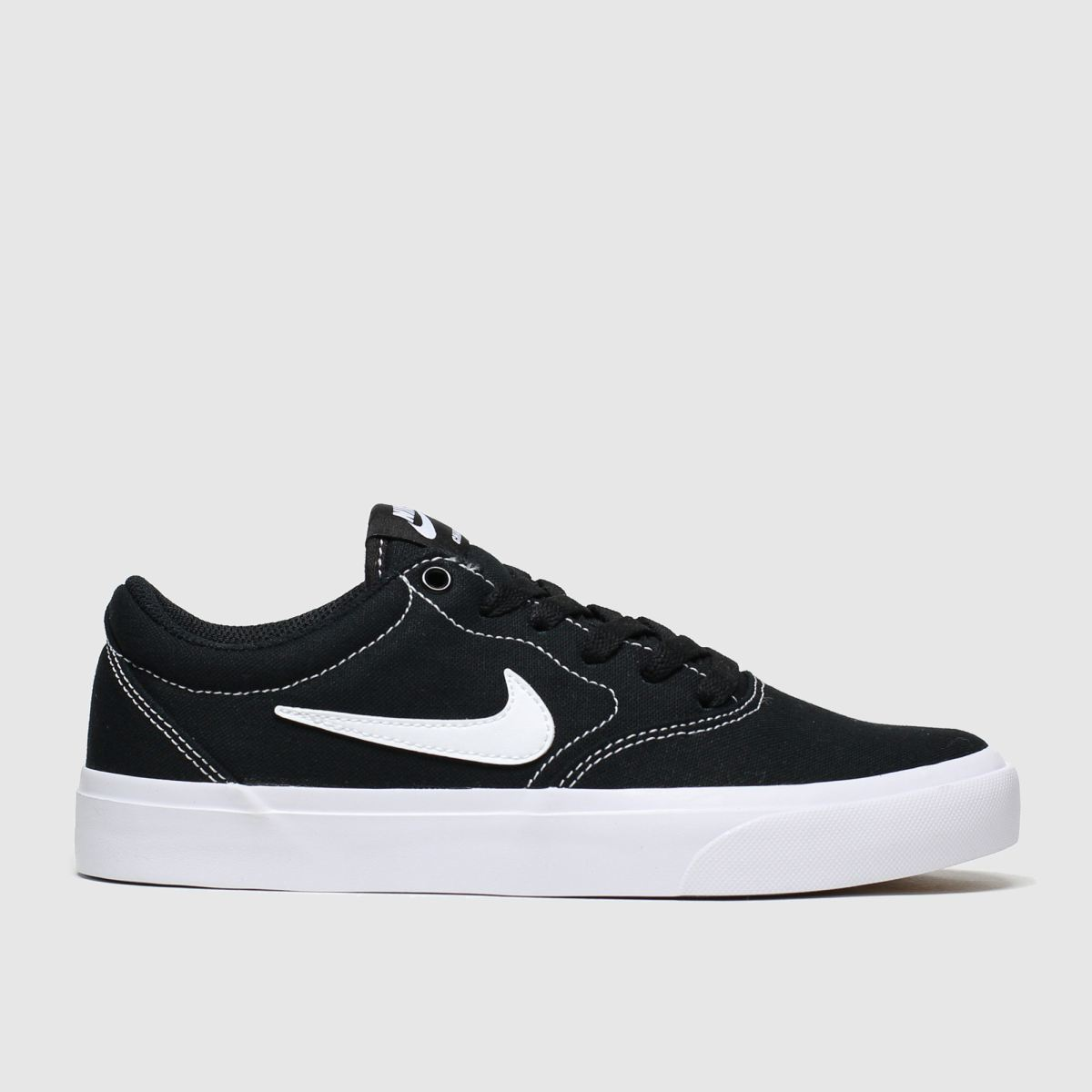 Nike Sb Black & White Charge Trainers Youth