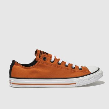 Converse Orange All Star Lo Unisex Youth