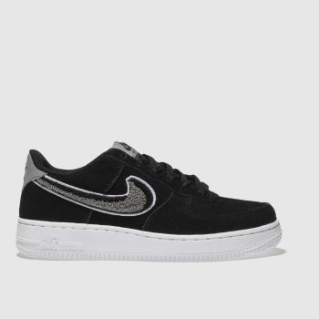 Nike Black & White Air Force 1 Lv8 Unisex Youth