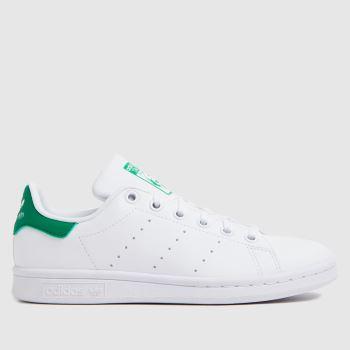 adidas White & Green Stan Smith Unisex Youth