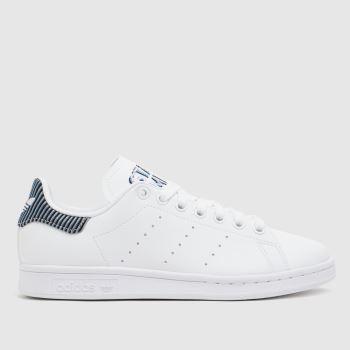 adidas White & Navy Stan Smith Unisex Youth