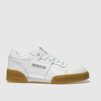 Reebok White Workout Plus Unisex Youth