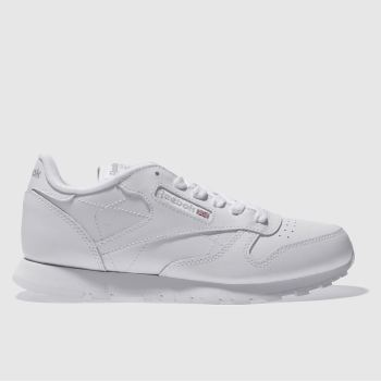 4cde67edc8f695 Reebok White Classic Leather Unisex Youth