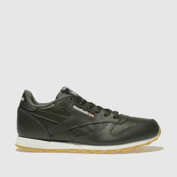 Reebok Khaki Classic Leather Estl Unisex Youth