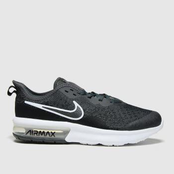 Nike Black & Grey Air Max Sequent 4 Unisex Youth#