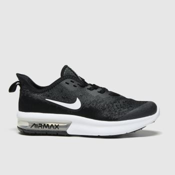 Nike Black & White Air Max Sequent 4 Unisex Youth#
