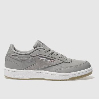 REEBOK GREY CLUB C 85 YOUTH TRAINERS