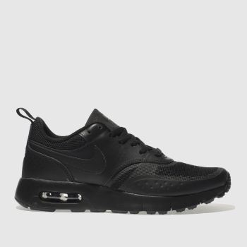 NIKE BLACK AIR MAX VISION YOUTH TRAINERS
