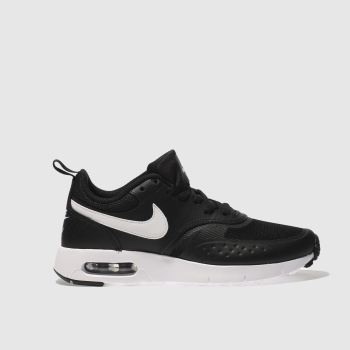 NIKE BLACK & WHITE AIR MAX VISION YOUTH TRAINERS