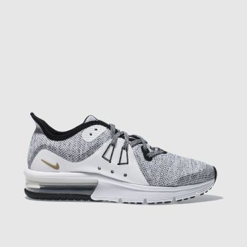 Nike White & Black AIR MAX SEQUENT 3 Unisex Youth