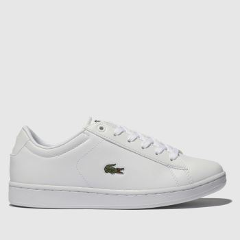 Lacoste White & Green Carnaby Evo Unisex Youth#