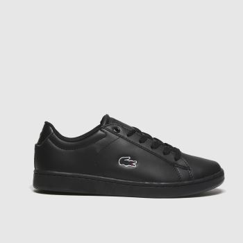Lacoste Black Carnaby Evo Unisex Youth