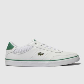 Lacoste White & Green Court-master Unisex Youth