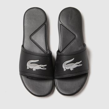 Lacoste Black & Silver 1.30 Slide Unisex Youth#