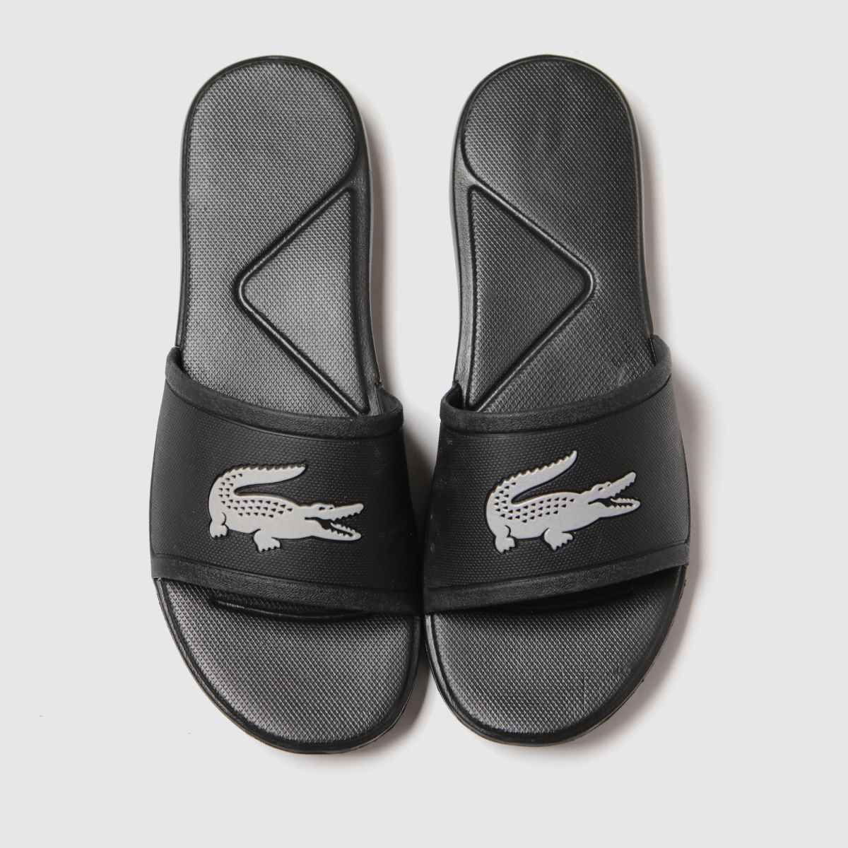 Lacoste Black & Silver 1.30 Slide Trainers Youth