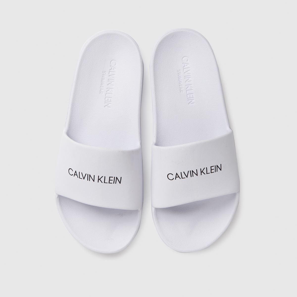CALVIN KLEIN White Slides Trainers Youth