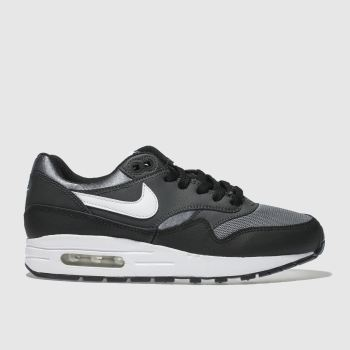 Nike Black & Grey Air Max 1 Unisex Youth