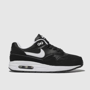 Nike Black & White Air Max 1 Unisex Youth