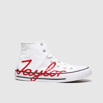 Converse White & Red All Star Hi Ct Day Unisex Youth