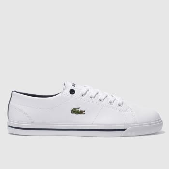 Lacoste White & Navy Riberac Unisex Youth