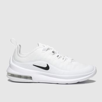 nike white & black air max axis trainers youth