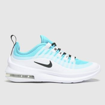 Nike White & Pl Blue Air Max Axis Unisex Youth