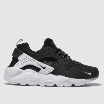 Nike Black & White Huarache Run Unisex Youth