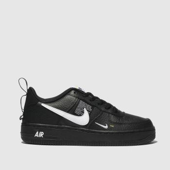 bdda9b925cab Kids Unisex black   white nike air force 1 lv8 utility trainers