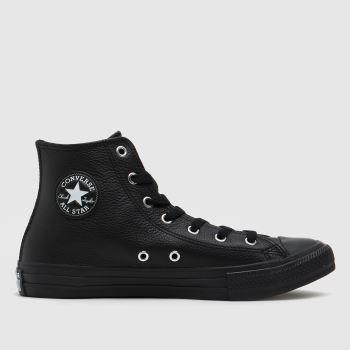 Converse Black Hi Leather Unisex Youth