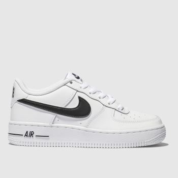Nike White & Black Air Force 1-3 Unisex Youth