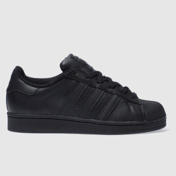 adidas Black Superstar Foundation Unisex Youth#