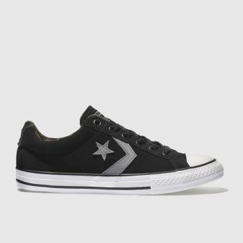 CONVERSE BLACK & GREY STAR PLAYER OX TRAINERS YOUTH