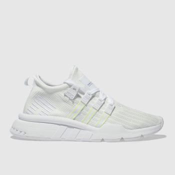 ADIDAS WHITE EQT SUPPORT MID TRAINERS YOUTH