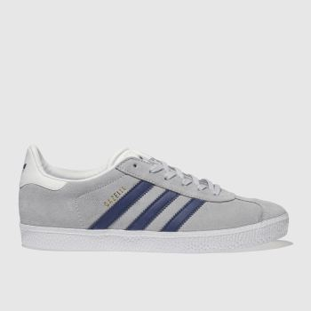 Adidas Grey & Navy Gazelle Unisex Youth