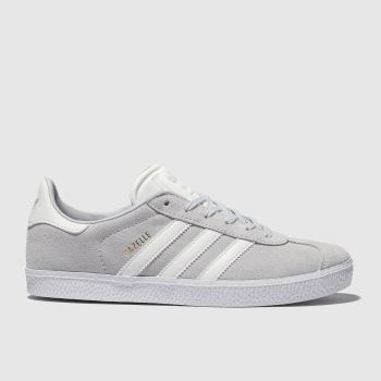 cheap for discount 4e6ec eabd3 Adidas Light Grey Gazelle Unisex Youth