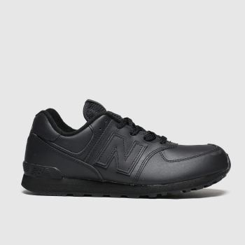 new balance black 574 trainers youth